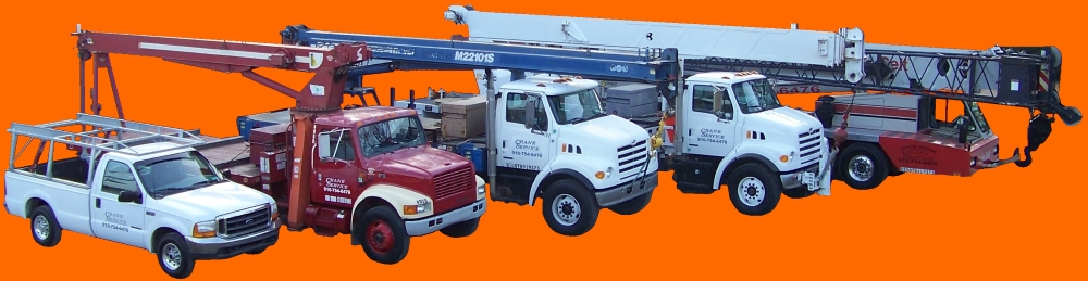 Carolina Crane Service and rentals Wilmington, NC fleet.
